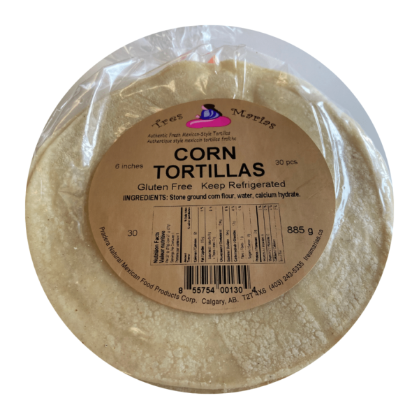 "Tortillas Corn 6"" 30 pcs"